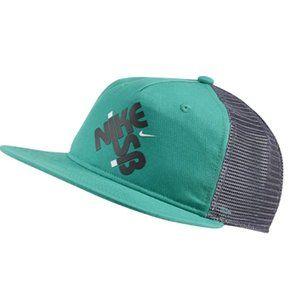 Nike SB Pro Mens Neptune Green Trucker Hat NEW